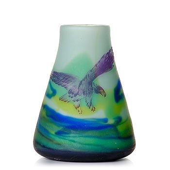 1. Axel Enoch Boman, an Art Nouveau cameo glass vase, Reijmyre, Sweden ca 1908.