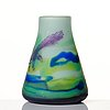 Axel enoch boman, an art nouveau cameo glass vase, reijmyre, sweden ca 1908.
