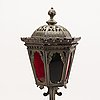 Tablelamp, lantern, bronze, first half of 20th century.