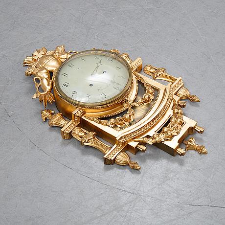 A late gustavian pendulum clock, signed by wilhelm pauli.