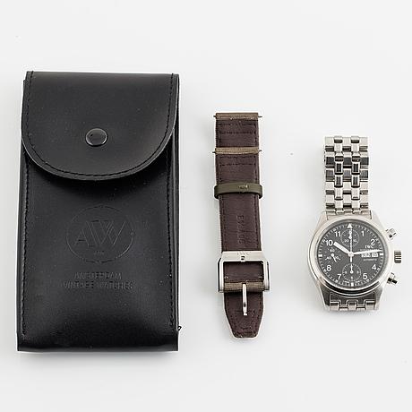 Iwc, schaffhausen, pilot, fliegerchronograph (t swiss made t), chronograph, wristwatch, 39 mm.