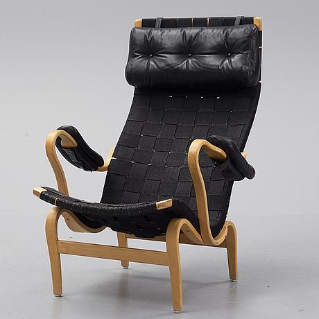 Bruno mathsson,  a 'pernilla' chair for firma karl mathsson, värnamo, 1974.