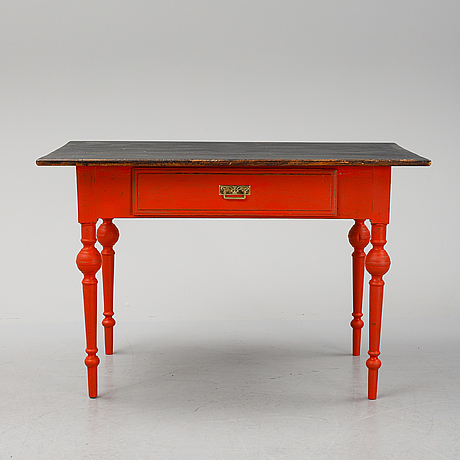 A painted desk, late 19th century.
