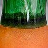 """Oiva toikka, lasifiguriineja, 4 kpl, sarjasta """"vihannekset"""", pro arte 1993, signeeratut."""
