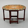 A painted baroque style gate-leg table, early 20th century.