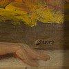 Okänd konstnär, 1800-tal,. olja på duk, signerad souter.