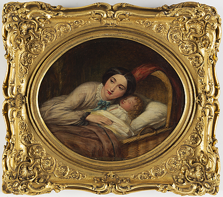 English artist, oil on canvas, signed and dated 1858 verso.