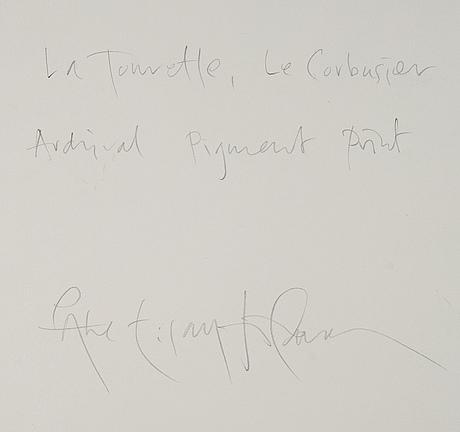 Åke e:son lindman, archival pigment print, signerat a tergo.