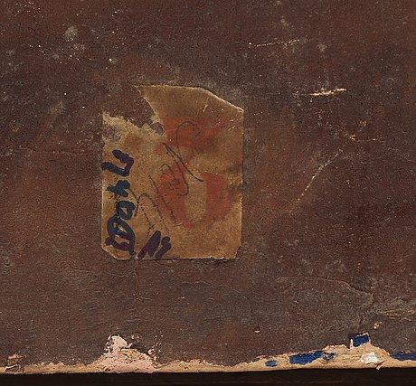Tysk skola 1800-tal oil on panel.