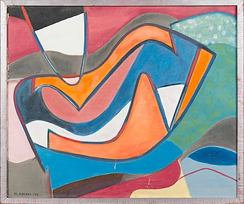 Kristiina Ketola, oil on canvas, signed and dated -77.