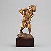 Carl johan bonnesen, a patinated bronze sculpture, signed cjb and dated 1915.