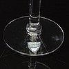 A set of 29+1 elixir vine tasting glasses orrefors later part of the 20th century.