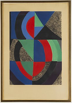 Sonia Delaunay, etching in colours, signed 136/150.