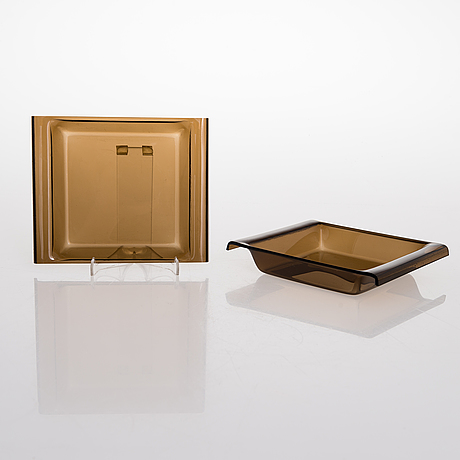 Yki nummi, a serving tray, ice cup with lid. 6 plates, salad cutlery & cigar / cigarette case. manufact. sanka finland.