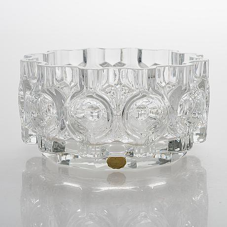 "A vase ""brokadi"" designed and signed 1973 by helena tynell riihimäen lasi oy."