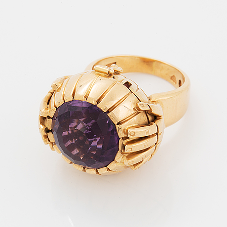 Amethyst ring with locket.
