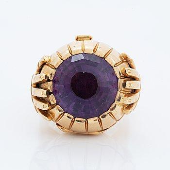 Amethyst ring with locket.