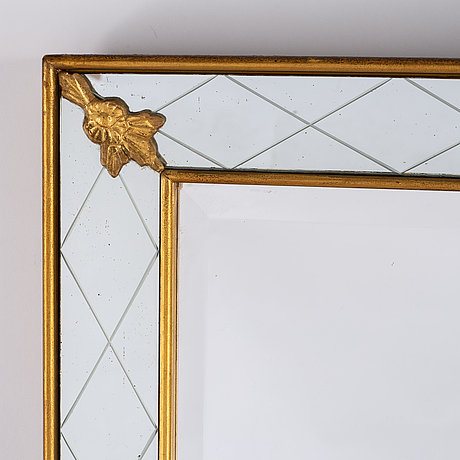 A mid-20th century mirror, glas & trä, hovmantorp, sweden.