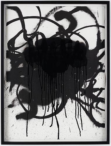 "Magnus ""nug"" gustafsson, colorated silkscreen, 2015, signed 10/15."