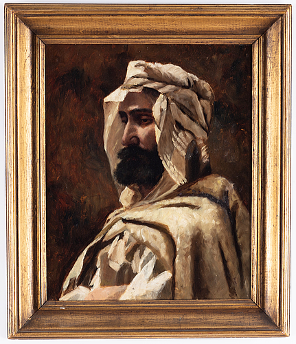 Frederick goodall, oil on panel, signed.