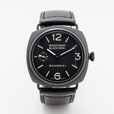 Panerai, radiomir black seal ceramic, wristwatch, 46 x 45 mm.