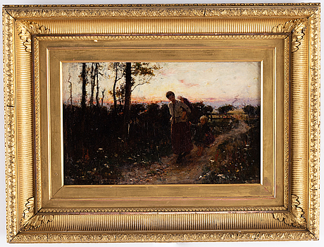 Thomas austen brown, oil on canvas, signed and dated 1882.