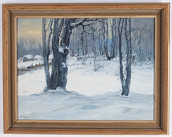 Vasili Levi, oil on panel, signed and dated 1951.