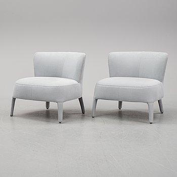 Antonio Citterio, a pair of 'Febo' armchairs, Maxalto B&B Italia.