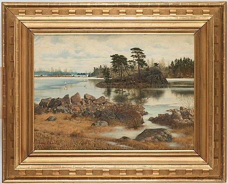 Knut ekwall, view over lake sommen, tranås, sweden.