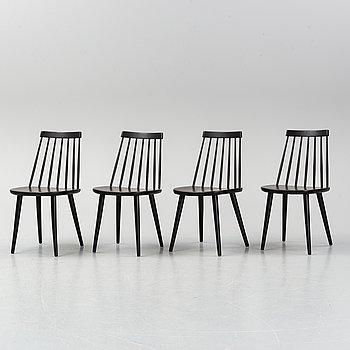 Four 'Pinnochio' chairs by Yngve Ekström. Second half of the 20th Century.