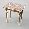 A gustavian style console table, 19th century.