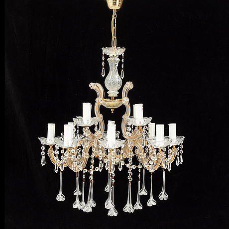 A chandelier from the second half of the 20th century.