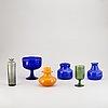 Erik höglund, a set of 6 glass vases for boda.