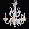 A 20th century glass chandelier.