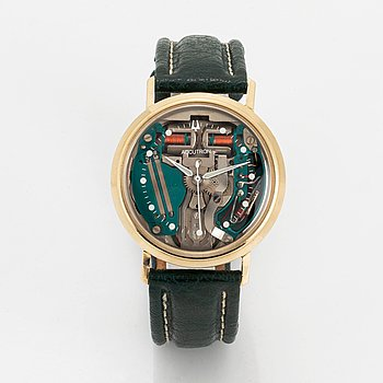 Bulova, Accutron, Spaceview, wristwatch, 35 mm.