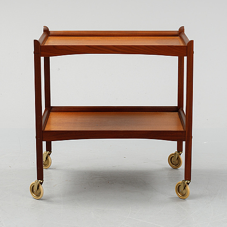 A teak drinks trolley, second half of the 20th century.