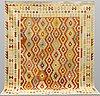 A carpet, kilim, ca 296 x 257 cm.