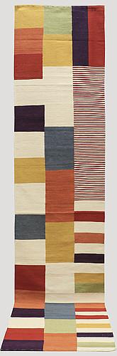 Gallerimatta, slätväv, ca 390 x 80 cm.