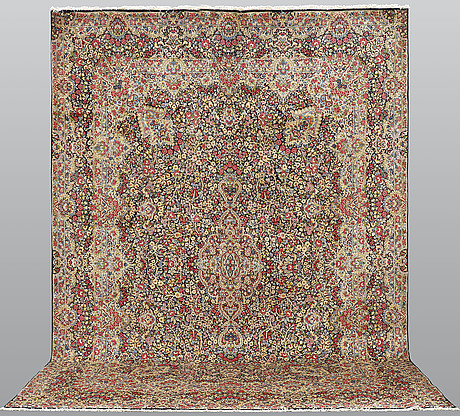 A carpet, kerman, ca 415 x 300 cm.