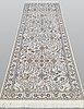 Gallerimatta, figural nain part silk s.k 6laa, ca 303 x 100 cm.