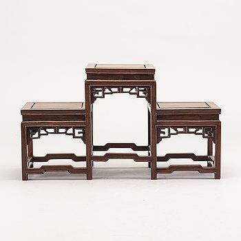 A Chinese 20th century wooden shelf.