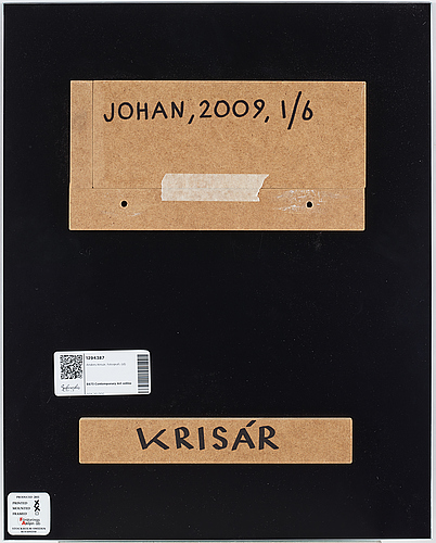 Anders krisár, photograph signed and numbered 1/6 on verso.