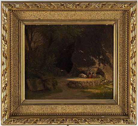 Georg emil libert, oil on panel, signed and dated -51.
