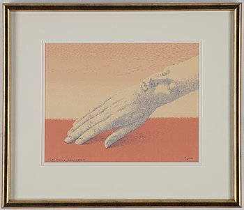 René Magritte, lithograph in colours, 1963, signed in print.