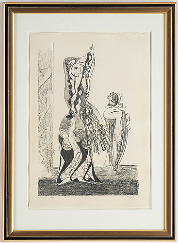 Max ernst, lithograph, 1950. , signed 166/200.