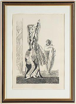Max Ernst, litografi, 1950, signerad 166/200.