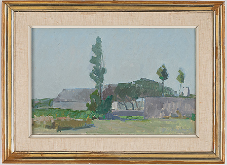 Björn hallström, oil on canvas, signed and dated 1948 verso.