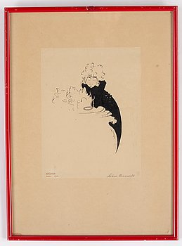 Einar Nerman, ink, signed and dated Paris 1910.