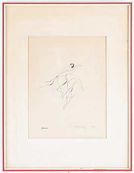 Einar Nerman, ink and gouache, signed and dated 1910.