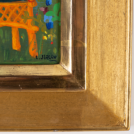 Lennart jirlow, oil on panel, signed.